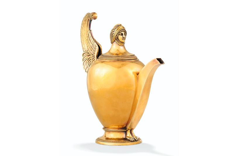 Tetera dorada de Marie-Joseph Gabriel Genu. París (1798-1809)
