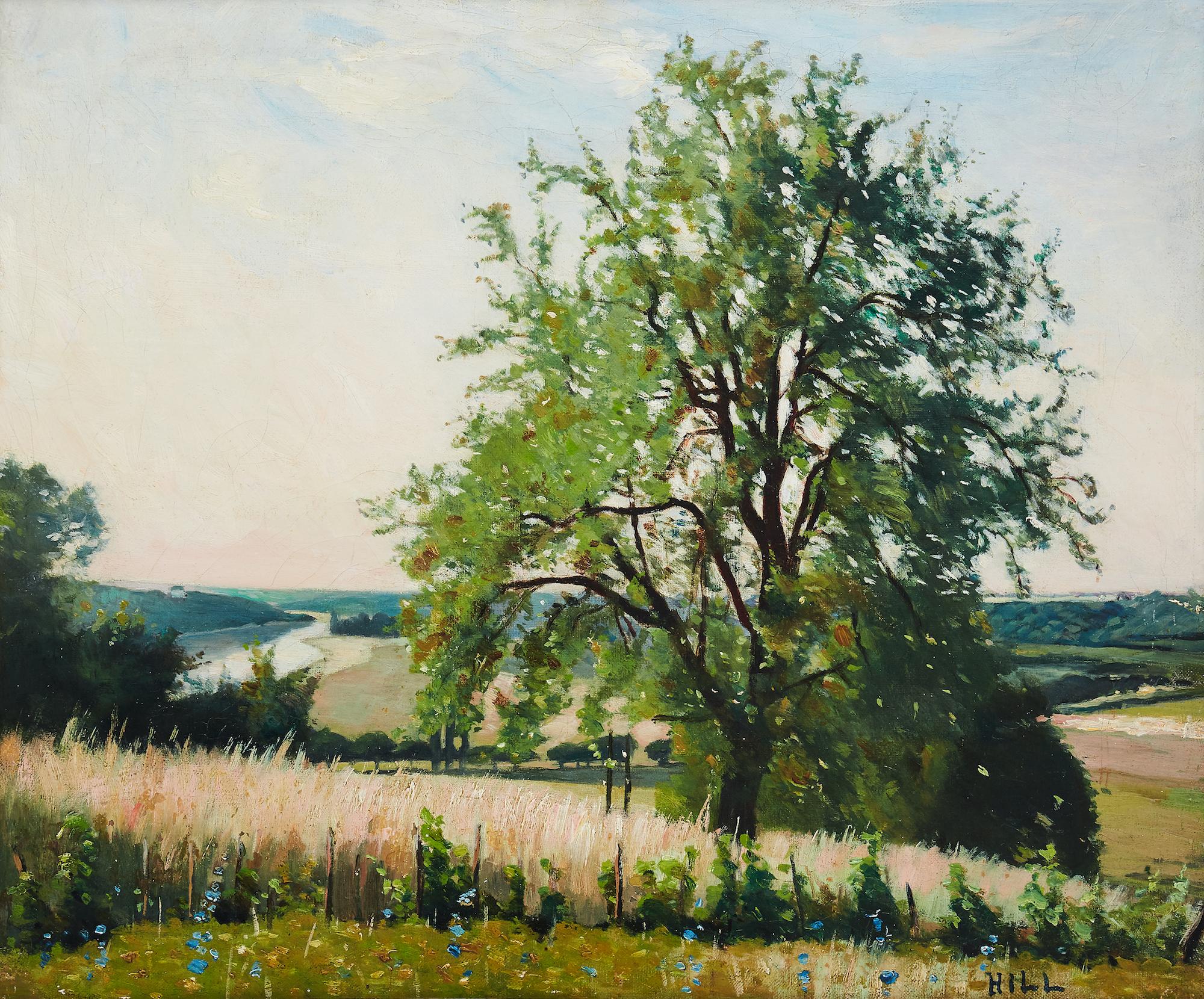 """Carl Fredrik Hills """"Från höjderna vid Chartrettes"""" målade 1877 i Frankrike. Utropspris hos Uppsala Auktionskammare är  3-4 miljoner kronor. Foto: Uppsala Auktionskammare"""