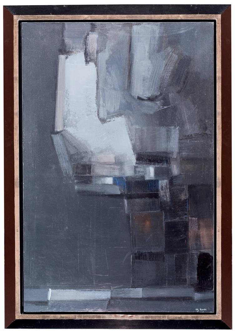 Gerardo Rueda, Almendro, 1960, huile sur toile, image ©Durán