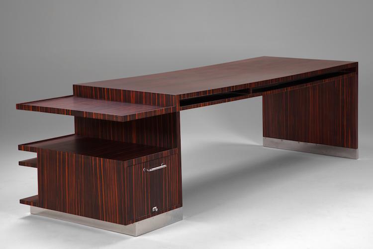 Ett unikt skrivbord av Sven Markelius som han lät tillverka under 1930-talet till sig själv.