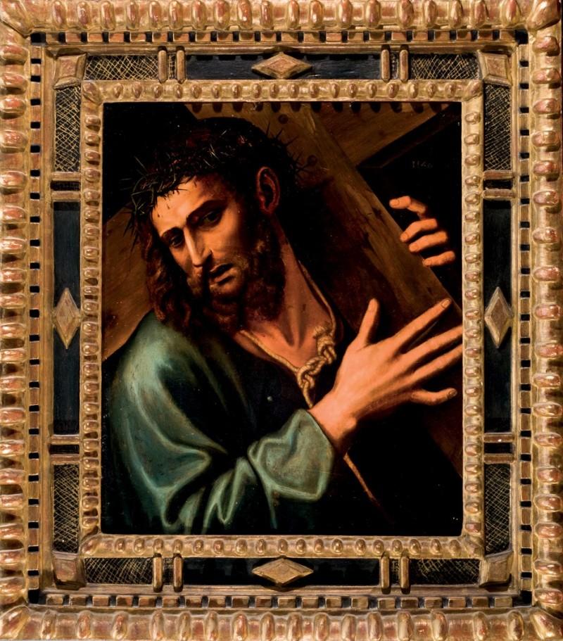 Lote 151: Atribuido a SEBASTIANO DEL PIOMBO. Cristo con la cruz a cuestas (1546)