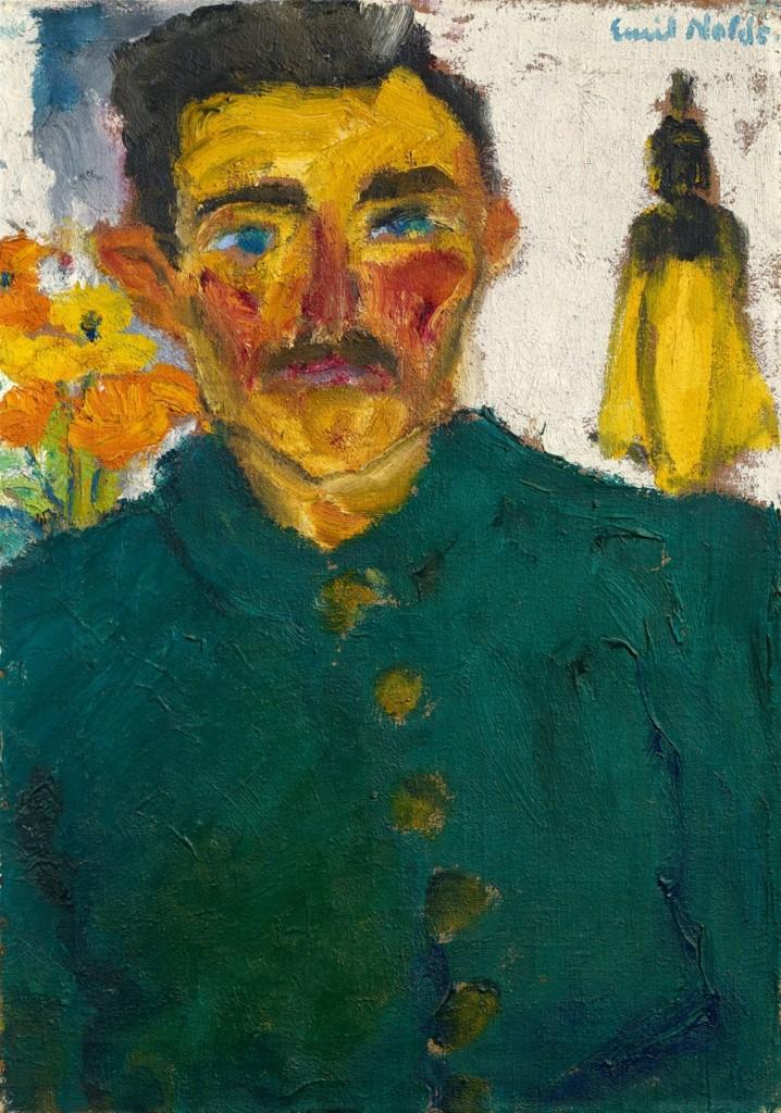 EMIL NOLDE (Nolde bei Tondern 1867 - 1956 Seebüll) - Der Jäger, Öl/Lwd., 68,5 x 48,5 cm, bezeichnet und signiert, 1918 Schätzpreis: 500.000-600.000 EUR