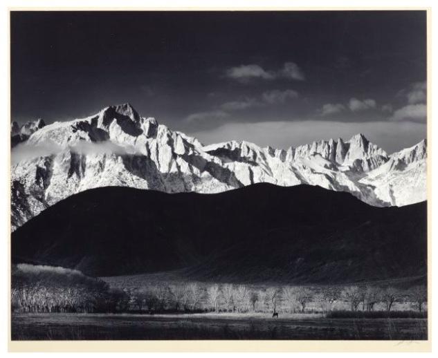 Ansel Adams, « Sierra Nevada de Lone Pine, Californie », épreuve à la gélatine argentique, image ©Koller
