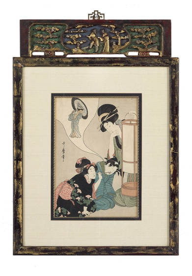 KITAGAWA UTAMARO (1753-1806) - Ohne Titel. Farbholzdruck auf Papier New Orleans Auction Galleries
