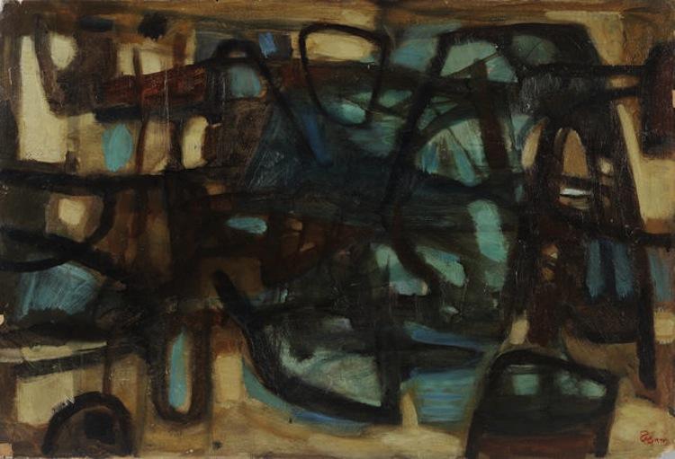 FAEQ HASSAN. Untitled, 1937. Sold for $32,413. Bonhams