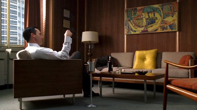 Don Drapers kontor i Mad men.