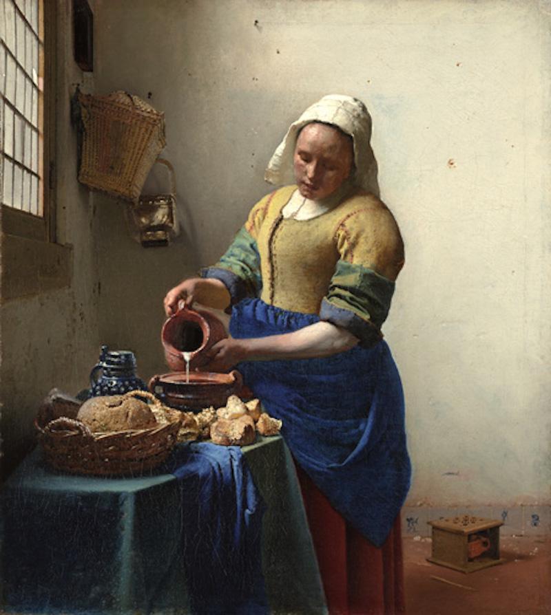 Kökspiga som häller upp mjölk av Vermeer. Foto: metmuseum.org