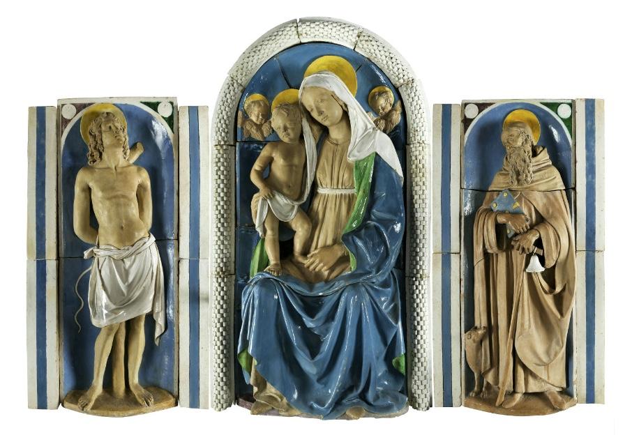 ANDREA DELLA ROBBIA (1435 - 1525) - Musealer Majolika-Altar, insgesamt 145 x 225 cm, um 1500 Schätzpreis: 1.000.000-1.500.000 EUR