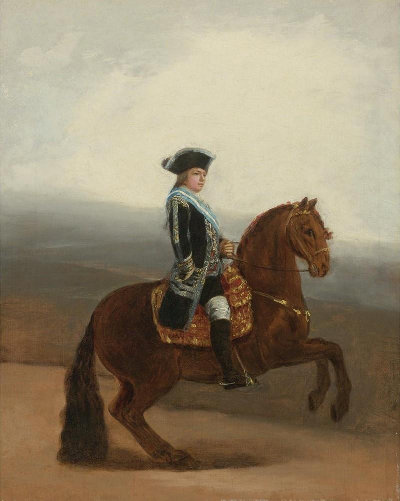 Fransisco Goya, «Portrait équestre de Don Manuel Godoy, duc d'Alcudia», 1794, image via Sotheby's