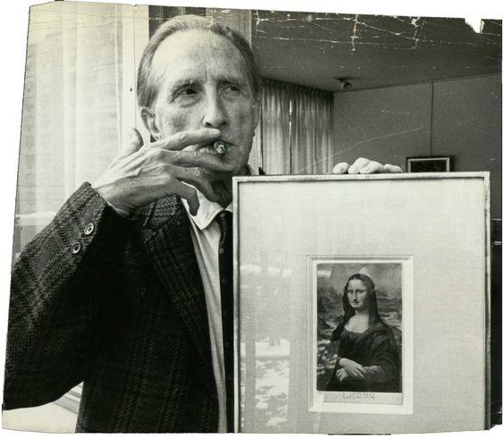 Marcel Duchamp med LHOOQ. Bild: Blogspot