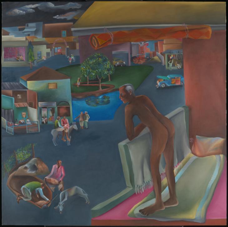 卡卡爾Bhupen Khakhar You Can't Please All, 1981(你無法取悅眾人) Tate © Estate of Bhupen Khakhar