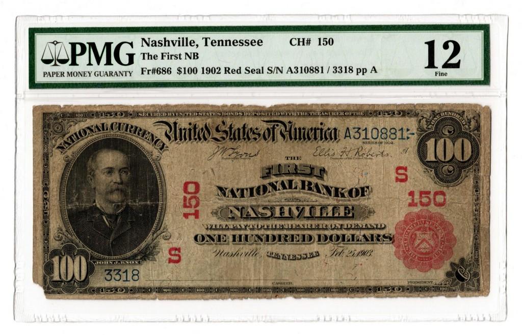 Rare 1902 $100 banknote