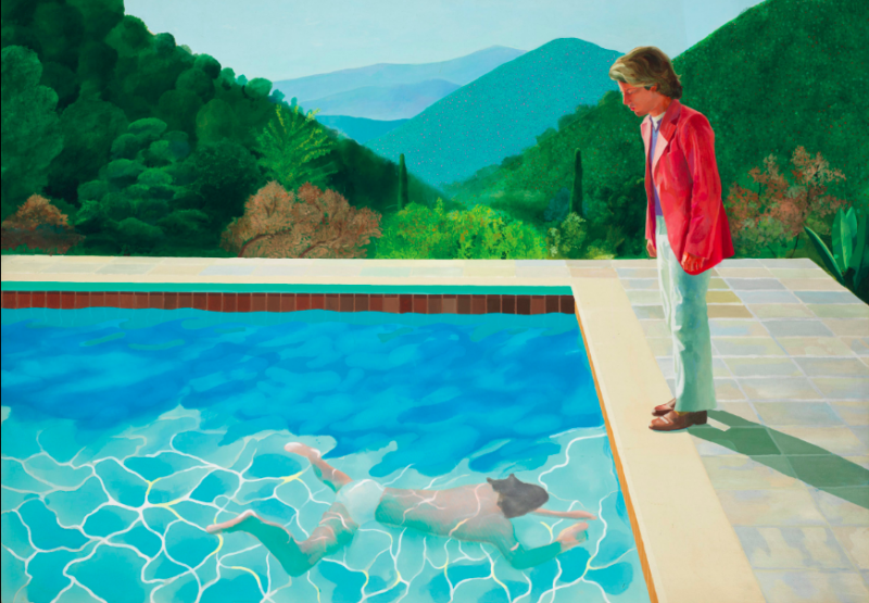 Portrait of an Artist (Pool with Two Figures), David Hockney. Foto: Christie's.