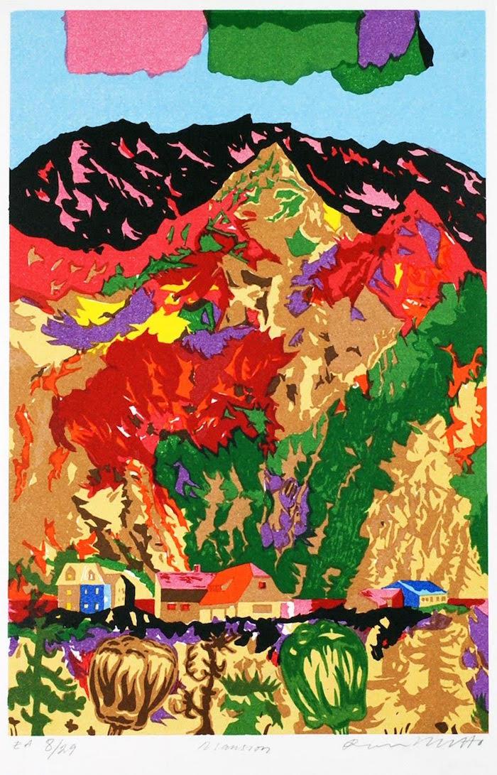 Litografi av Roger Metto 32x20cm, upplaga om 295 st, värde 1700 SEK.