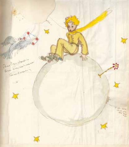 Antoine de Saint Exupéry, dessin original pour Piou Piou Chassin
