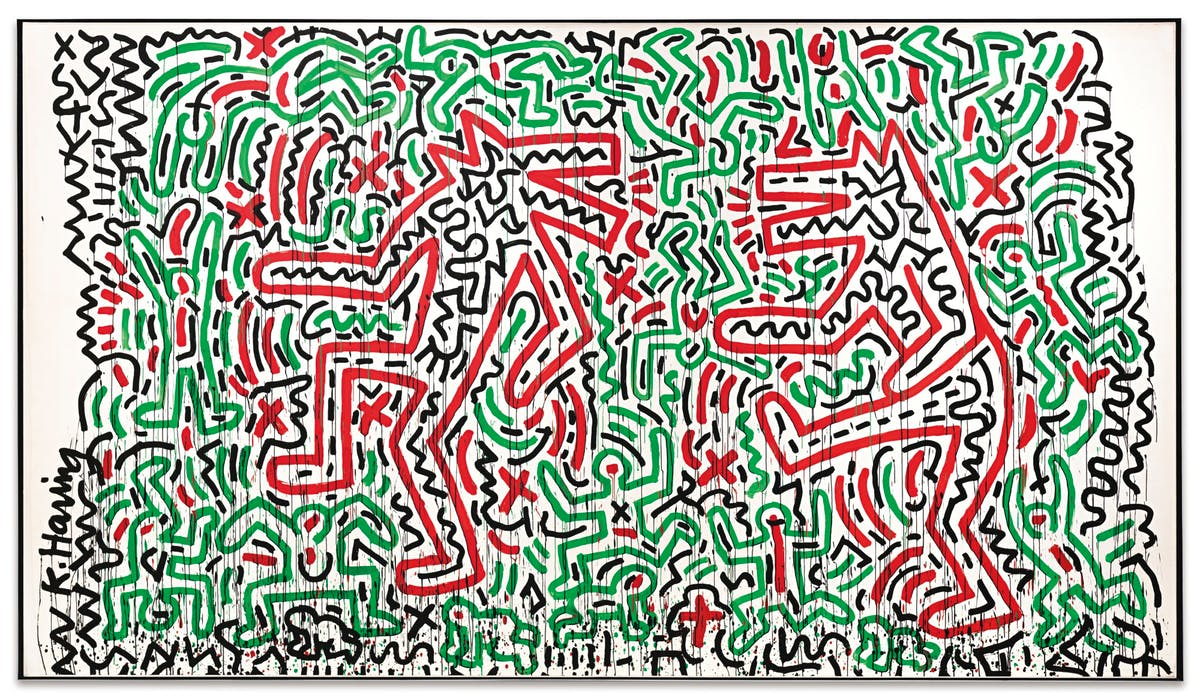 "KEITH HARING. ""Dancing Dogs"" (1981)"