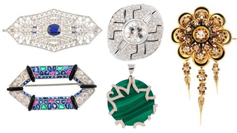 幾何圖形珠寶的設計在維多利亞中期很普遍