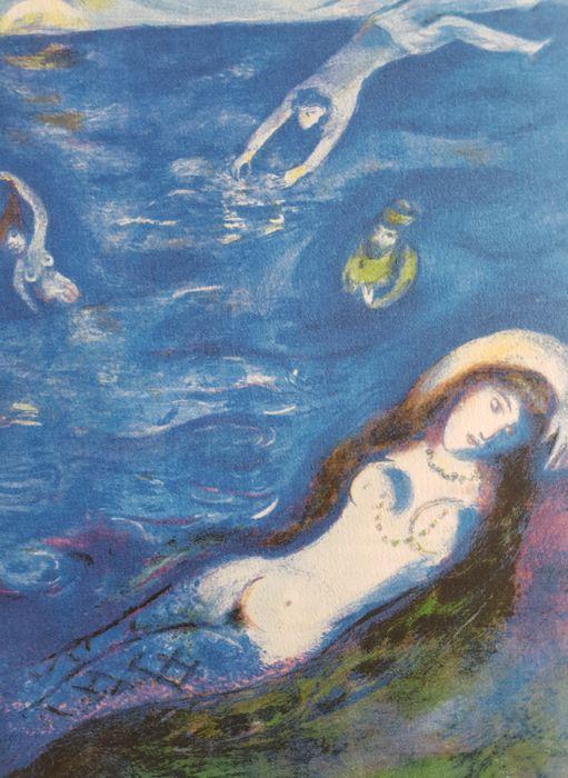 Marc Chagall, « Arabian Nights », lithographie, cachet de l'artiste, 1948