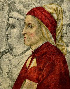 Ein zu Lebzeiten Dantes angefertigtes Portrait in einer Kapelle in Florenz.
