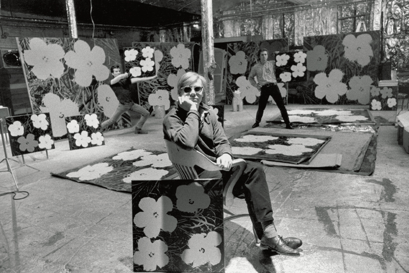 Andy Warhol in The Factory, 1964, image via Phaidon