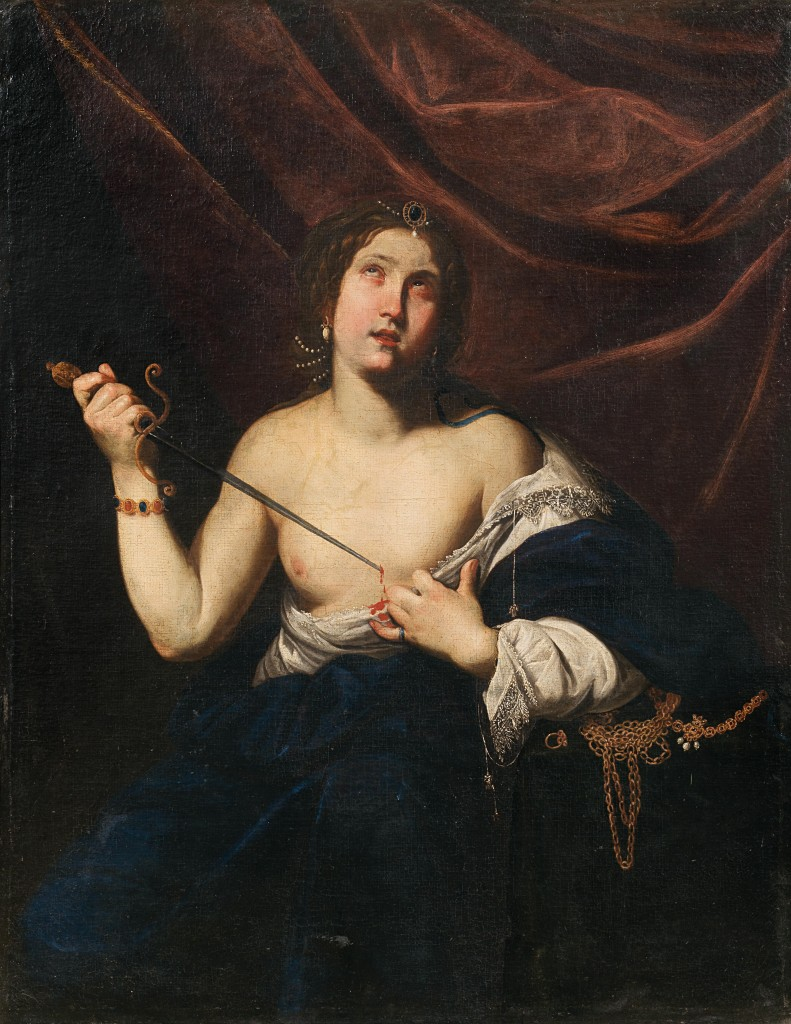 DIANA DE ROSA gen. ANNELLA DI MASSIMO (1601 Neapel 1634) - Lucretia, Öl/Lwd., Öl/Lwd.