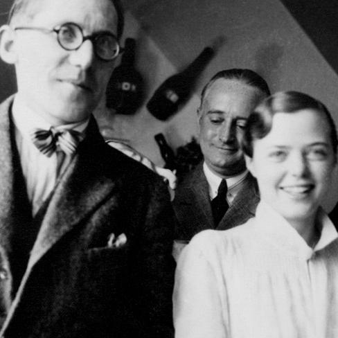Le Corbusier, Percy Scholefield (le premier mari de Perriand) et Charlotte Perriand