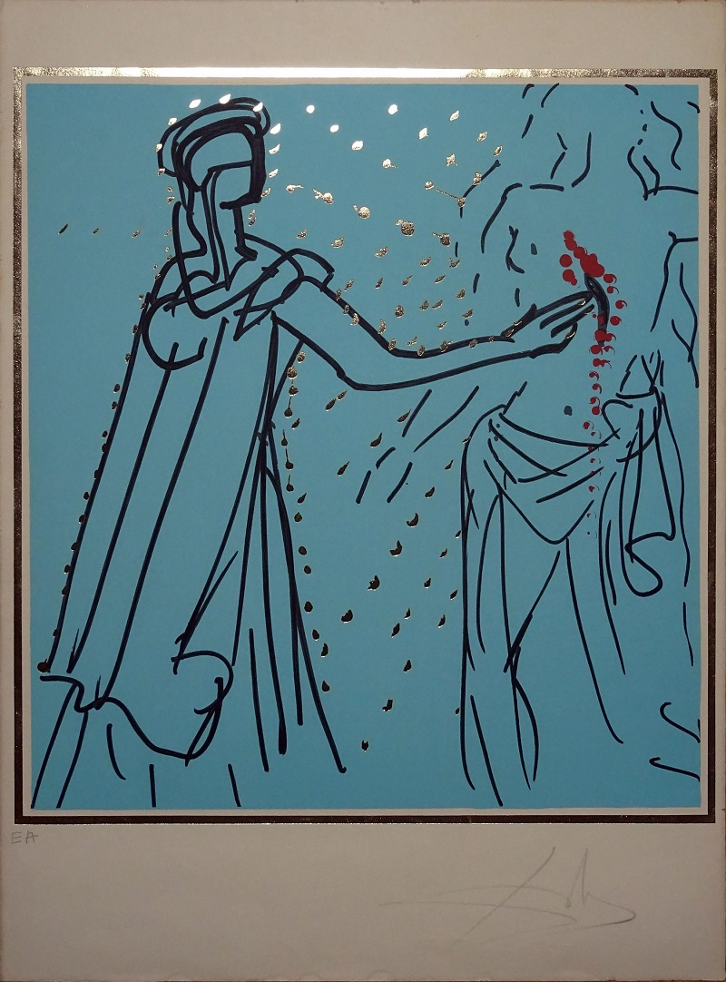 "SALVADOR DALÍ. Lancelot Healing Sir Urre de la serie ""Knights of the Round Table"" (1977)"