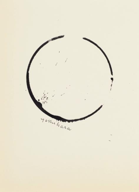 Jiro Yoshihara's Untitled (Circle) ink on paper work