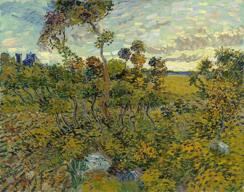 Vincent van Gogh, «Coucher de soleil à Montmajour», 1888