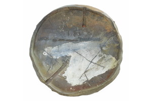 Peter Voulkos, stoneware charger.