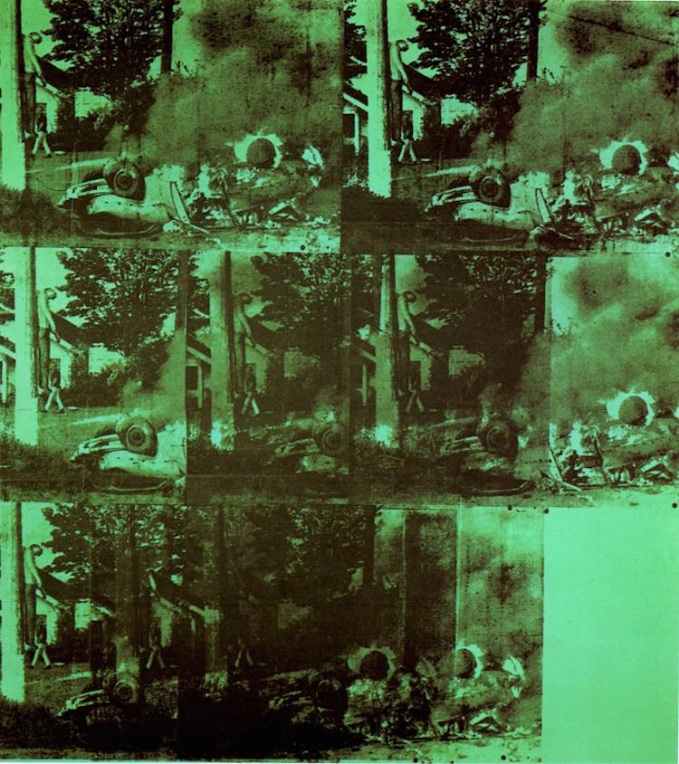 """Andy Warhol, """"Green Burning Car I""""(1963). Foto: ricardavidal.com"""