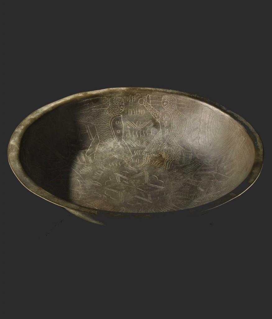 Romansk bronsskål, Hansa, Tyskland 1100-talet. Utropspris : 12,000 EUR