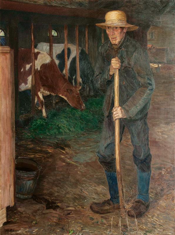 FRITZ MACKENSEN (Braunschweig 1866 - Worpswede 1953) - Heidebauer, Öl/Lwd., 175 x 130 cm, signiert Katalogpreis: 26.000 EUR