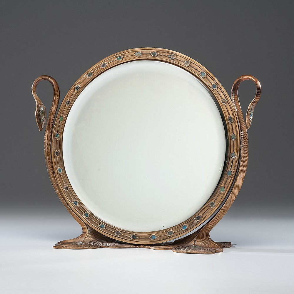 Peacock dressing mirror