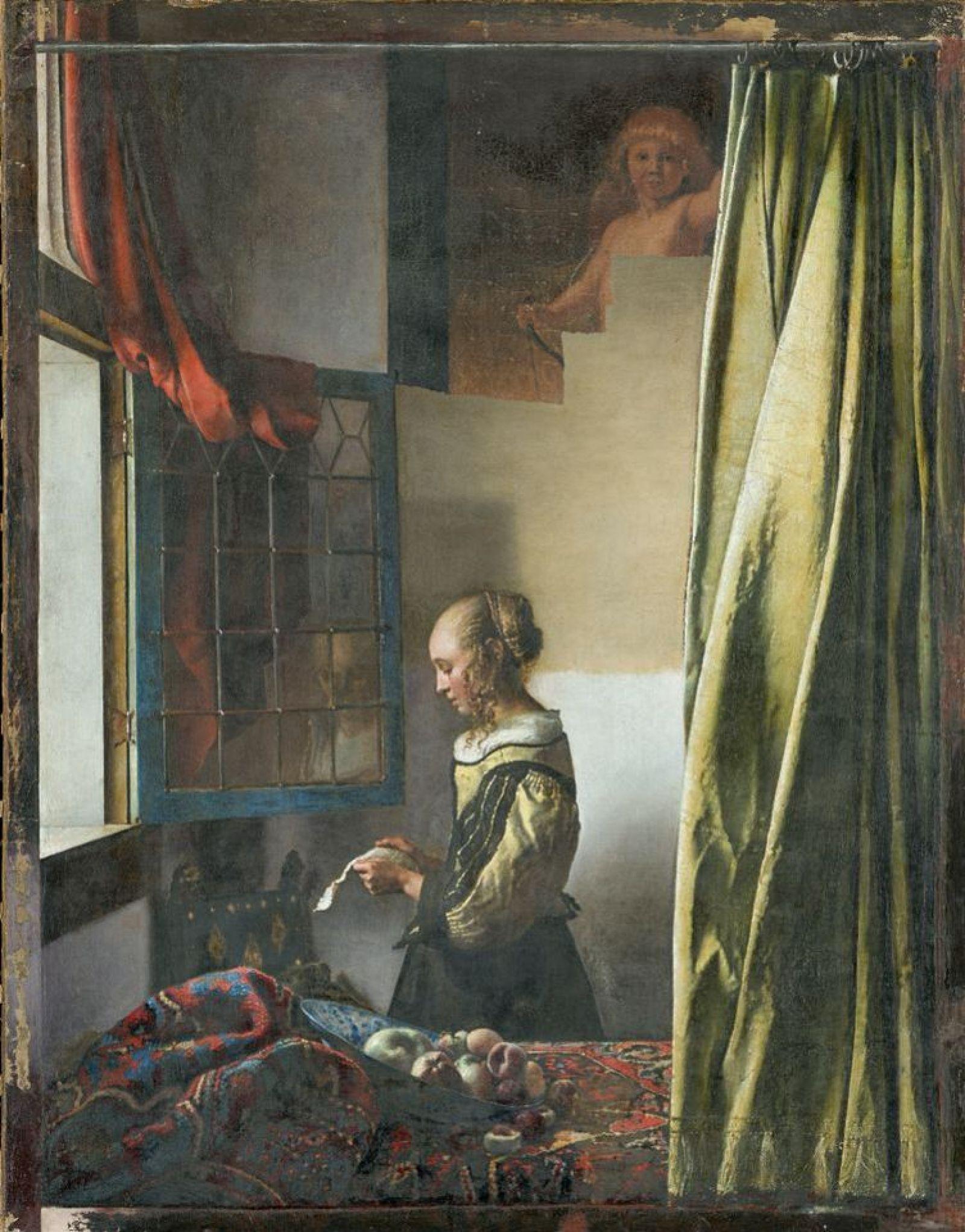 Johannes Vermeer, La liseuse à la fenêtre, vers 1657, Staatliche Kunstammlungen, Dresde, image © SKD / Wolfgang Kreische