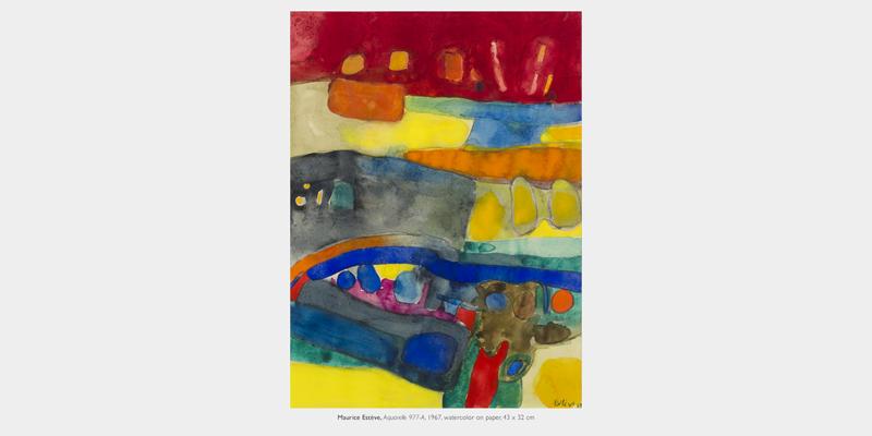 18 verk av Maurice Estève från åren 1939-1988 visas hos David Lévy. Oil on canvas