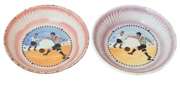 Assiettes à décoration de joueurs de football Durán Subastas