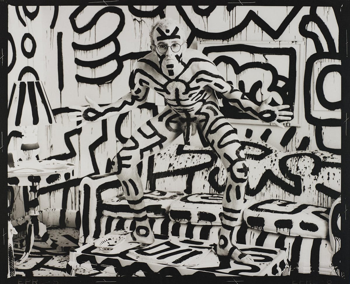 "Annie Leibovitz, ""Keith Haring, New York"" år 1986. Foto: Phillips."