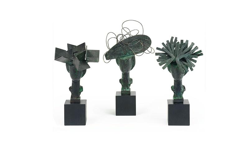 """MANOLO VALDÉS. Esculturas + Libro Poemas """"Diálogo de Damas"""" (2007)"""