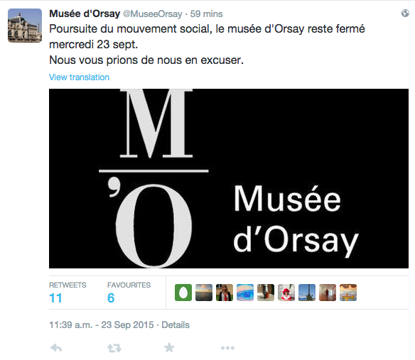 Image via le compte Twitter du Musée d'Orsay