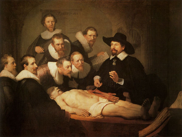 Rembrandt. The Anatomy Lesson of Dr. Nicolaes Tulp, 1632. Mauritshuis, The Hague