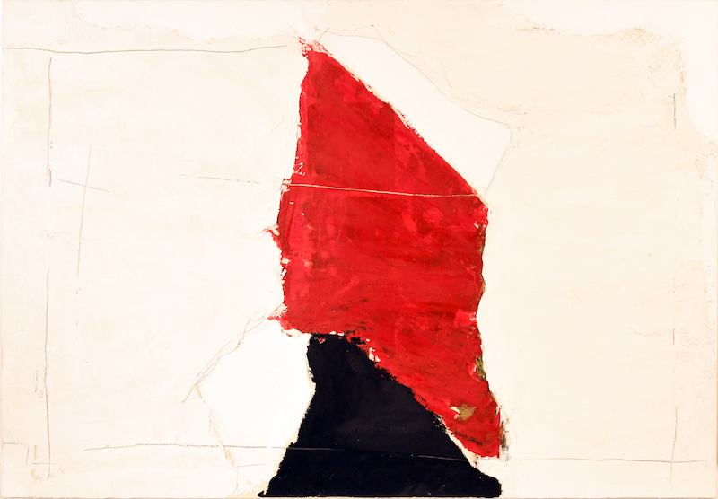 Mixed media abstract painting by the Italian-born artist Mario Arlati (b. 1945), titled Passato, Presente, No Limit, 35 ½ inches by 51 inches, verso signed, titled and dated (est. $6,000-$8,000).