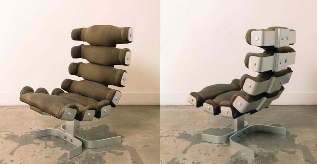 Pierre Vandel, fauteuil « Vertebre », 1972, image ©Leclere