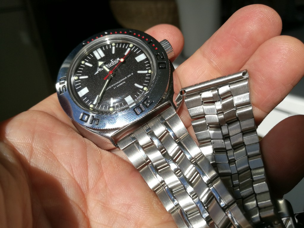 Vostok Amphibia before changing strap!
