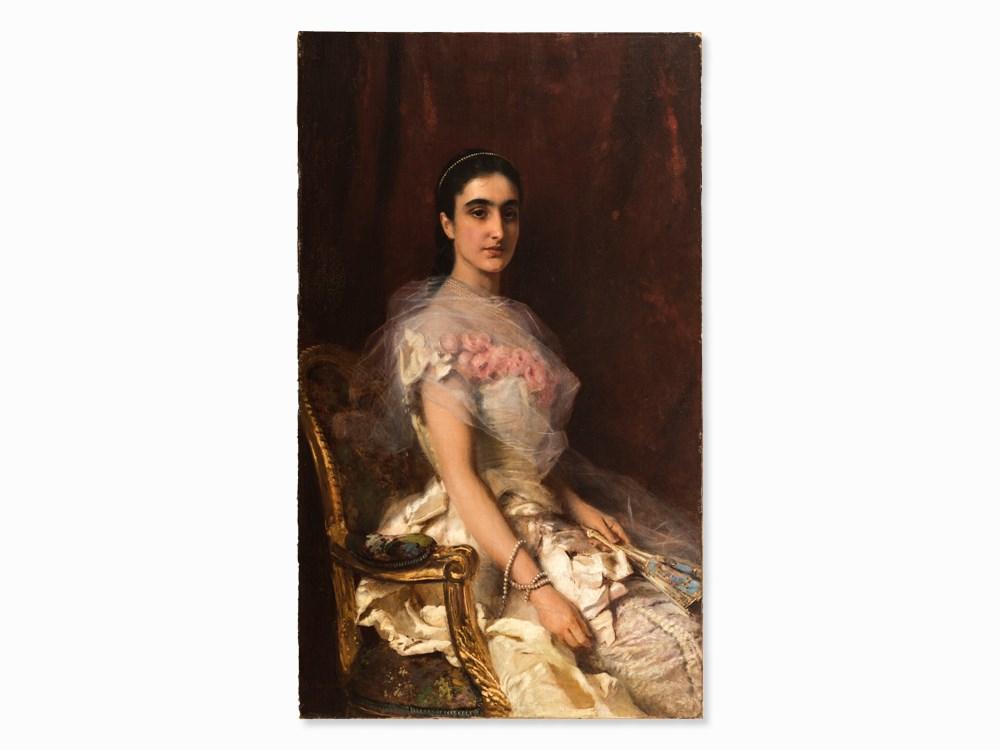 Konstantin Makovsky, Painting, Portrait of a Seated Lady, 1883. Schätzpreis: 240 000 EUR Auctionata