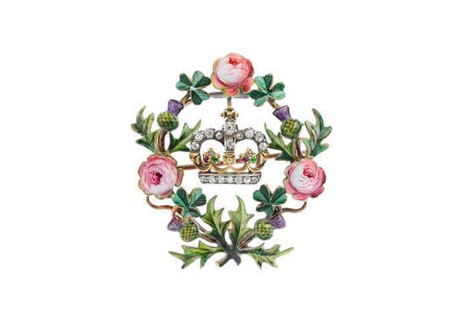 Broche conçue pour le couronnement d'Edward VI, image ©Fellows