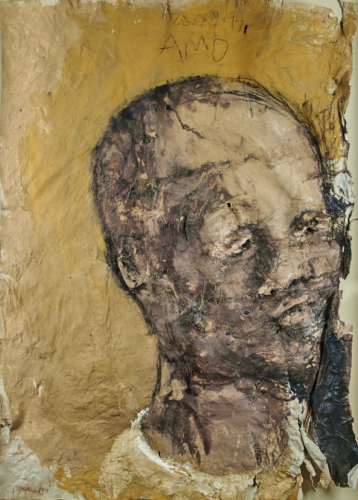 MIQUEL BARCELÓ. Amo. Técnica mixta sobre papel. Firmado, titulado y fechado (1994)