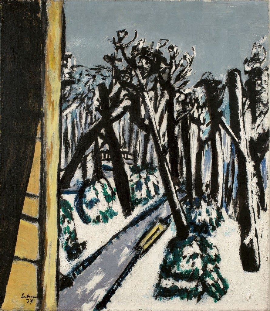 MAX BECKMANN (Leipzig 1884-1950 de New York) jardin en hiver, signé, 1937