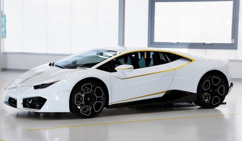 Lamborghini Huracán donated to the Pope. Bild: Sotheby's