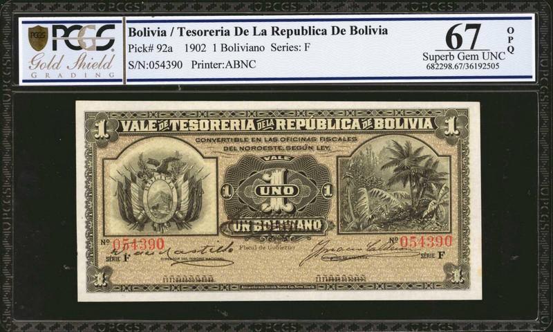BOLIVIA. Boliviano